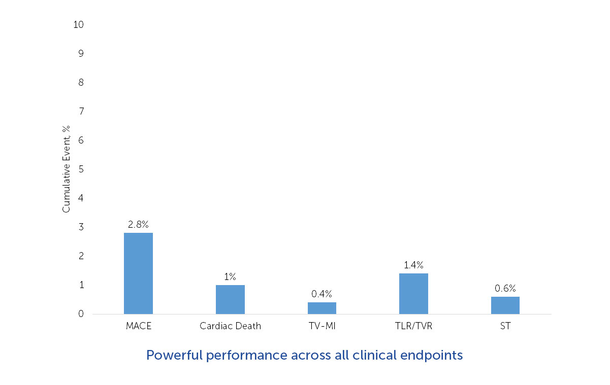 CLINICAL ENDPOINTS AT 1 YEAR - en-ABL e-REGISTRY