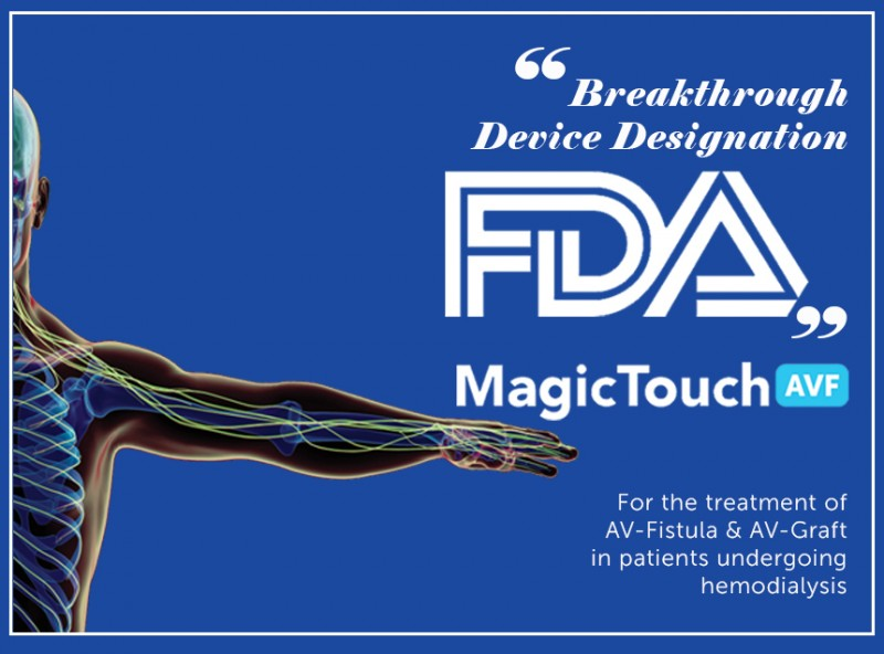Concept Medical Inc. Granted 'Breakthrough Device Designation' From the FDA for Its MagicTouch AVF Sirolimus Coated Balloon