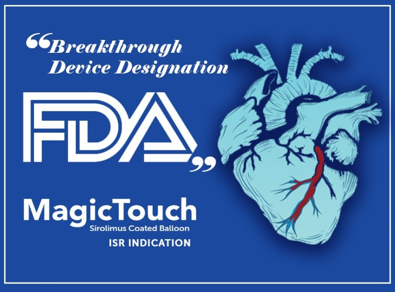 Concept Medical Inc. Granted 'Breakthrough Device Designation' From FDA for Its MagicTouch Sirolimus Coated Balloon.