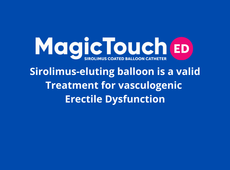 Sirolimus-eluting balloon is a valid treatment for vasculogenic erectile dysfunction
